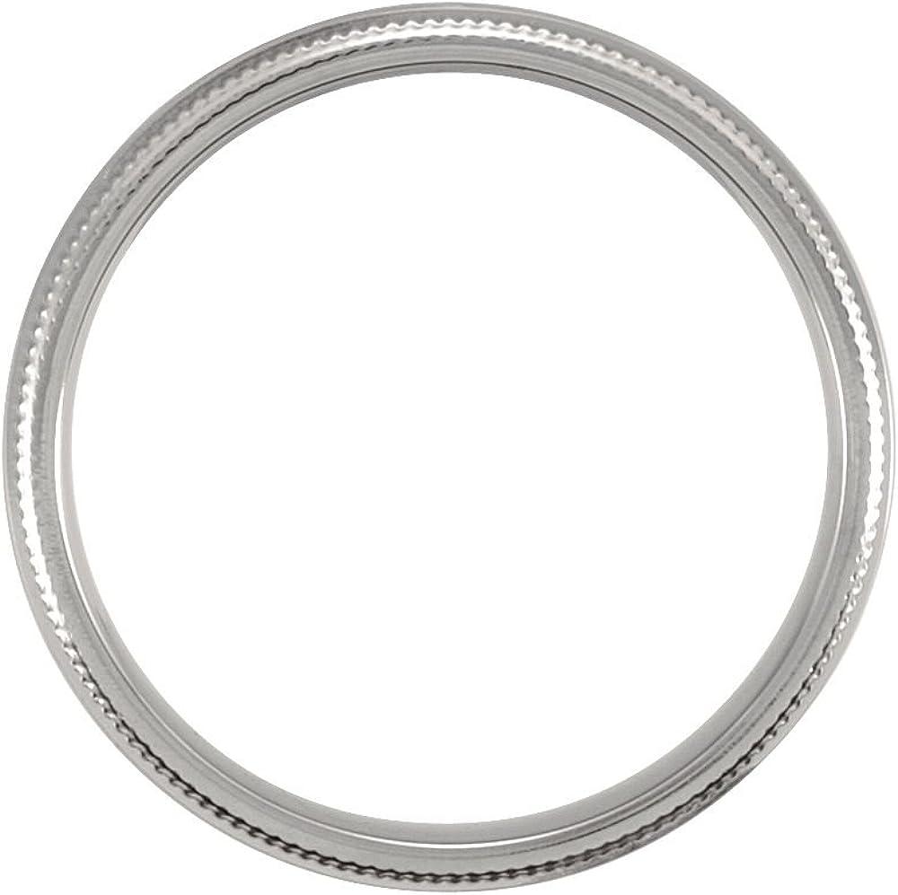 FB Jewels Titanium Double 6mm Milgrain Wedding Ring Band Size 6