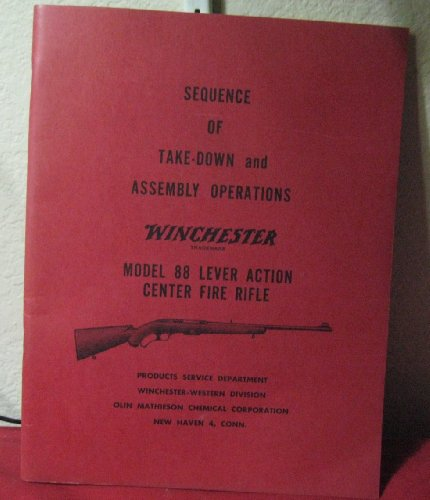 WINCHESTER 88 LEVER ACTION CENTER FIRE RIFLE (Sequence Of Take-Down and Assembly Operations )