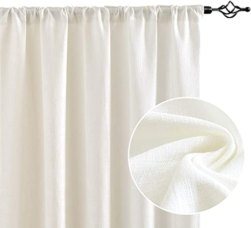 Cheap jinchan Linen Textured Curtains Tie Up Shade window curtain panel for sale