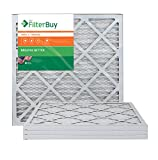AFB Bronze MERV 6 20x21.5x1 Pleated AC Furnace Air Filter. Pack of 4 Filters. 100% produced in the USA.