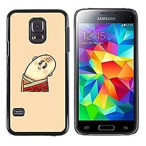 Paccase / SLIM PC / Aliminium Casa Carcasa Funda Case Cover - Funny Bald Man - Samsung Galaxy S5 Mini, SM-G800, NOT S5 REGULAR!