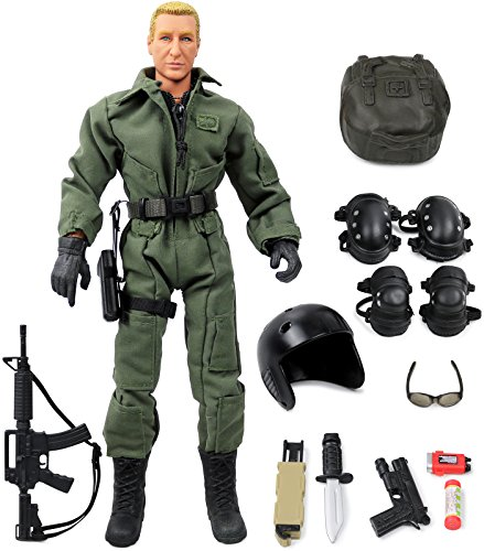 12 Inch Military Figures (Click N' Play Military Parajumper PJ Swat Team 12