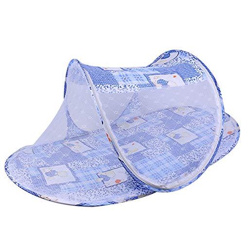 Haokaini Portable Baby Travel Bed, Child Crib Mosquito Mesh Net, Newborn Foldable Net Tent Protect Baby from Sun & Bugs