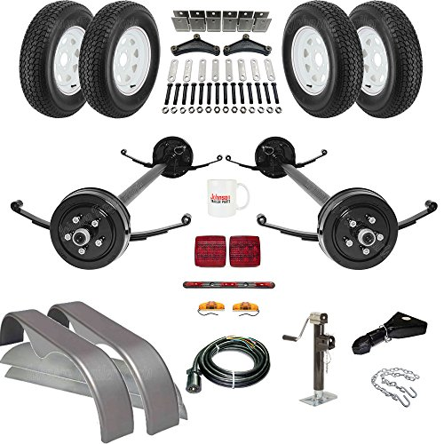 Tandem Brake Axle Trailer Parts Kit 89 Quot Hubface 74