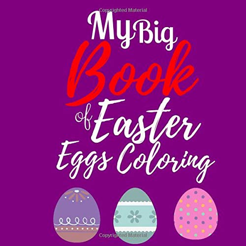 Amazon.com: My Big Book of Easter Egg Coloring: Easter Coloring