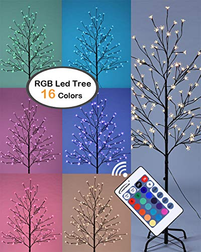 Lightshare 5FT LED Star Light Tree, 5 Feet, RGB with Remote Control, 16 Color-Changing Modes ()