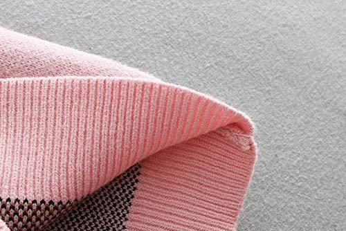 Animados Casual Suelto Punto Cuello Rosa Suéter Perro Dulce Poleras Otoño Pullover Mujeres Drhgksp Dibujos Mujer Manga De O Lanter Prendas 6Hzgw
