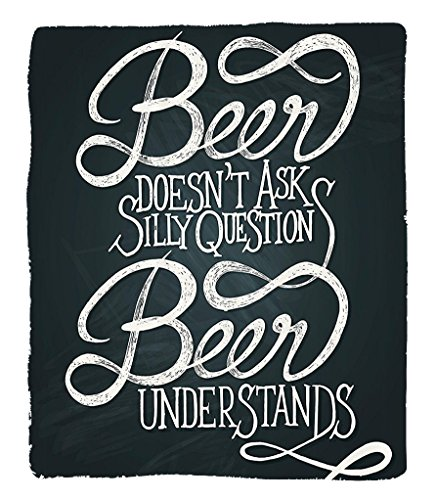Chaoran 1 Fleece Blanket on Amazon Super Silky Soft All Season Super Plush Beer Understs Doesnt Askilly Questions Comic Quotes Funny Hipsters Design Fabric et Dimgray
