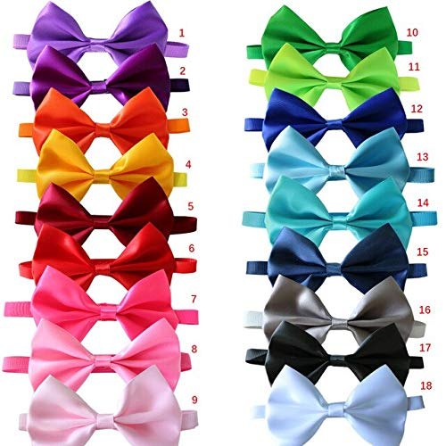 BeesClover 500pcs Dog Ribbon Cat Dog Bow Tie Adjustable Dog Grooming Accessories Multicolor for Dogs Holiday Supplies Mix Colour One Size by BeesClover