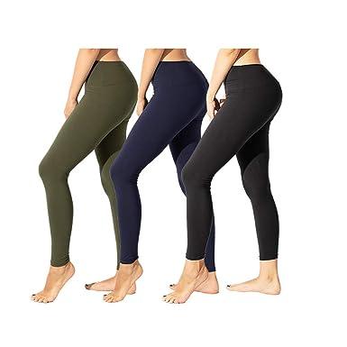 78b10255a3308 TNNZEET High Waisted Leggings for Women Plus Size Capri&Ankle Yoga Pants  Tummy Control Soft Workout Seamless