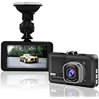 HD Car Dash Camera ,WINWONBRA High Definition 1080P Video Camera Recorder |140 Degree Wide-Angle Car DVR View Road Traffic Cam (BLACK) (Black)
