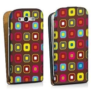 Diseño para Samsung Galaxy S3 i9300 / LTE i9305 DesignTasche black - Retro Tapete