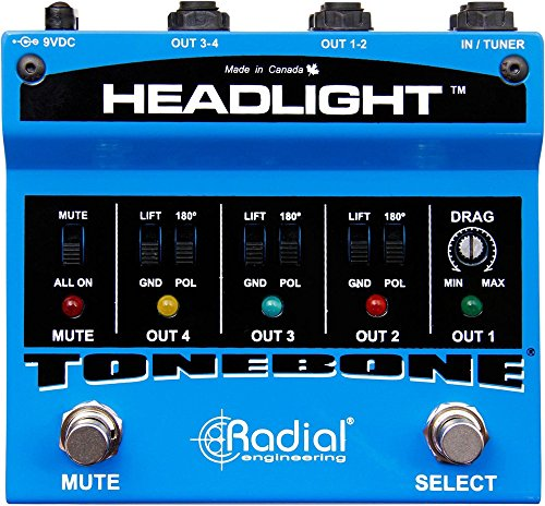 Radial Headlight 4 Output Guitar Amp Selector by Radial