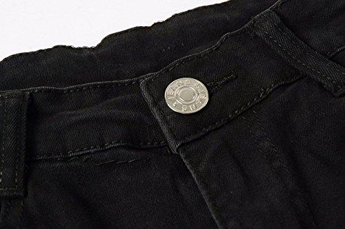 Jeans Denim Vintage Pour Noir Streetwear Pantalon Merical Déchiré Hiphop Hommes Og7q7d