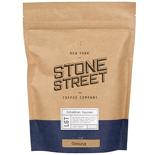 Course Ground Coffee (100% COLOMBIAN SUPREMO Freshly Ground Coffee | 1 Lb Bag | Light 'Breakfast' Roast | 100% Arabica Single Origin | Mild, Bright, Smooth, & Perfect for Waking Up!)