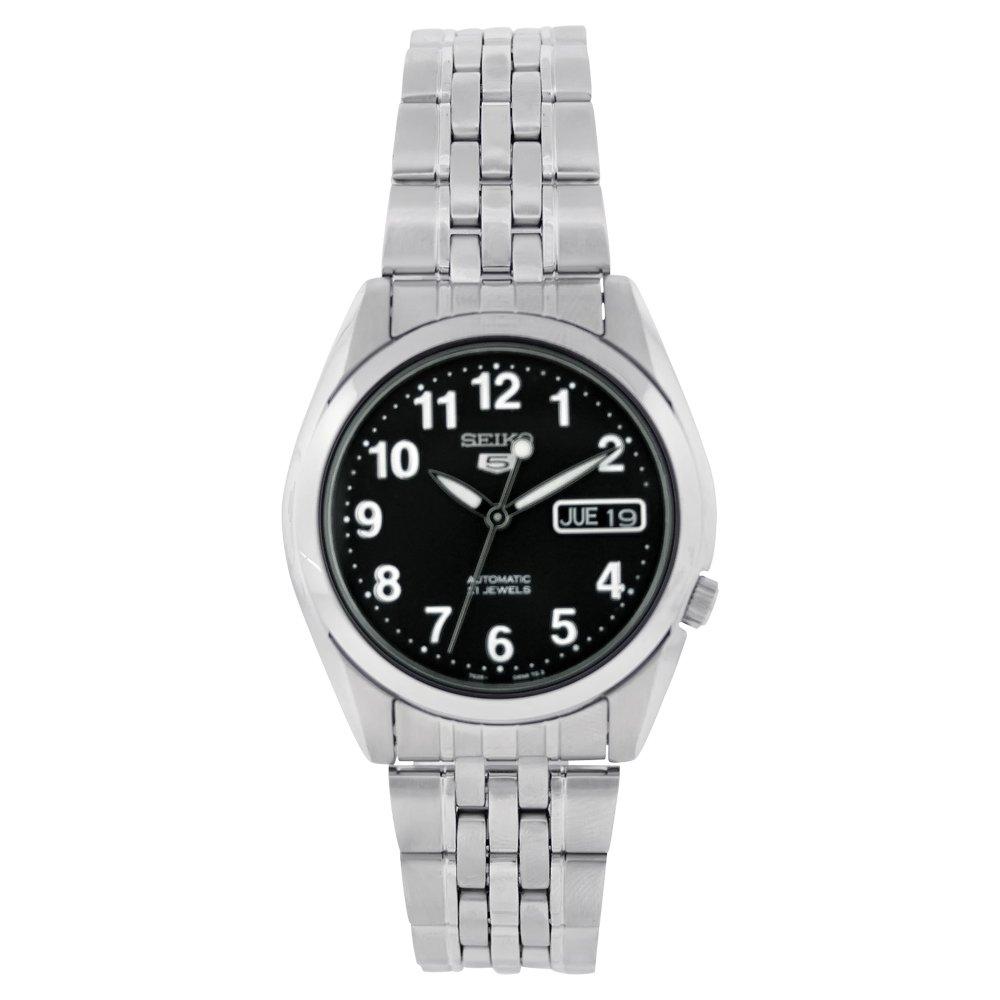 Sieko Men's SNK381K Stainless Steel Analog with Black Dial Watch