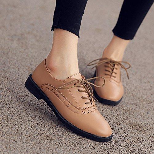 Casual Zapatos Solo Talladas Pequeño Mujer GAOLIM Zapatos El Calzado De Zapatos Brown Muelle qUnPAg