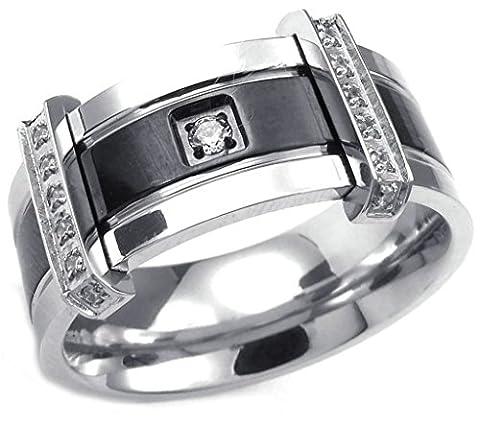 Epinki Jewelry Stainless Steel Mens Fashion Jewelry Rings CZ Charm Elegant We... (Elegant Music Rings)