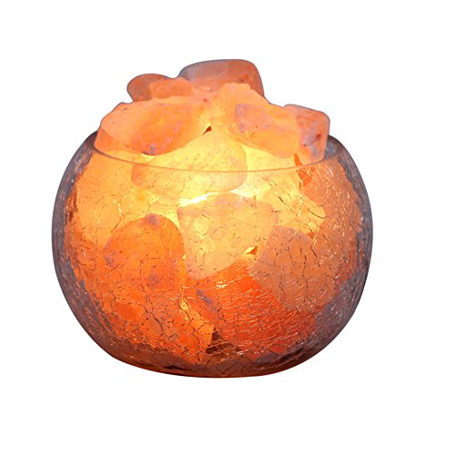 Yyout Natural Rock Crystal Himalayan Salt Lamp Globe With