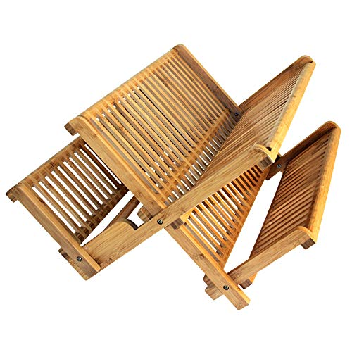 Totally Bamboo 20-6701 Dish Drying Rack, Brown (Wood Dish Dry Rack)