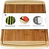厨房用超大竹切板,带果汁槽-17.5 x 13.5 x 0.75英寸