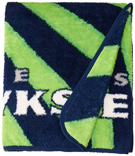 (The Northwest Company Officially Licensed NFL Seattle Seahawks Strobe Sherpa on Sherpa Throw Blanket, 50