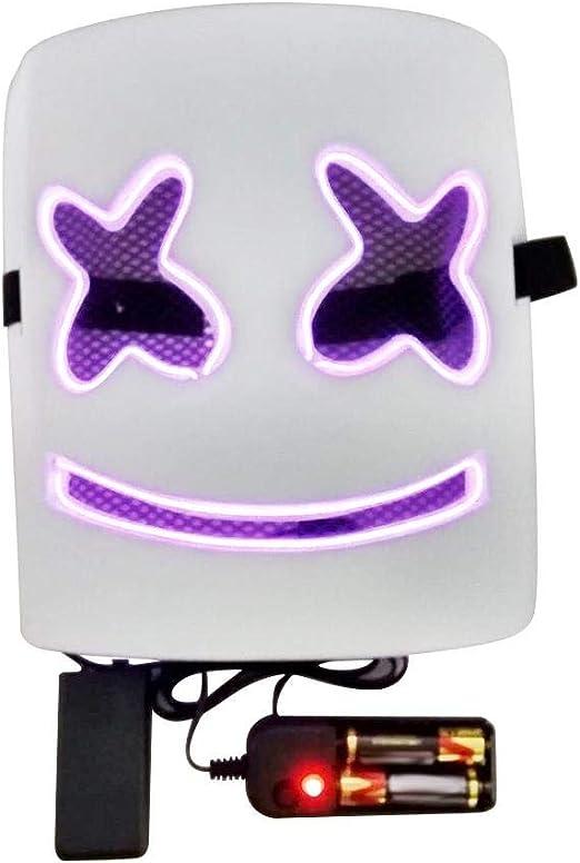 Nishci Máscara Luminosa - Máscara de Cabeza de Marshmallow LED ...