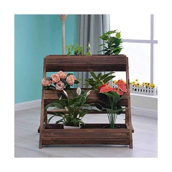 HEMFV 3 Tier Giardino alzato for Verdure in Legno sopraelevata Planter Box di Legno Naturale for Outdoor Patio Yard… 5 spesavip