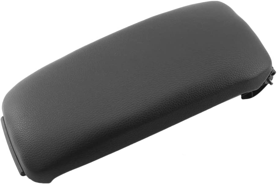 KKmoon 8P0864245P Black Leather Center Console Armrest Cover Lid Replacement for Audi A3 2003-2012