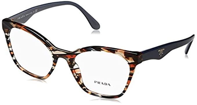 ded851df3c7 Eyeglasses Prada PR 9 UV 1AB1O1 BLACK at Amazon Women s Clothing store