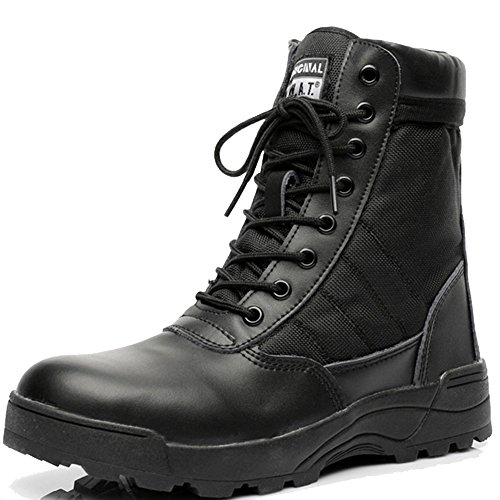 Men Boots Sale (Be Dreamer Military Boots Men's Tactical Boots Original S.W.A.T. Leather Side Zip Combat Work)
