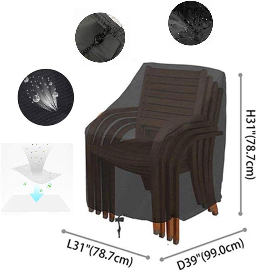 31 2 Seat Garden Chair Covers Waterproof Windproof Anti-UV 210D Oxford Fabric Heavy Duty Rip Proof 39 31In
