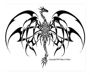 Chinese Dragon Design Rectangle Mouse Pad Kat Dragon Tattoo