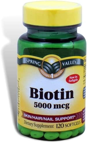 Spring Valley Biotin Potency Softgels product image