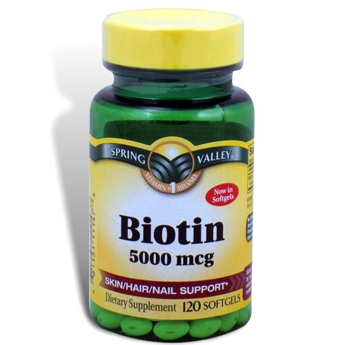 Spring Valley – Biotin 5000 mcg, Super Potency, 120 Softgels, Health Care Stuffs