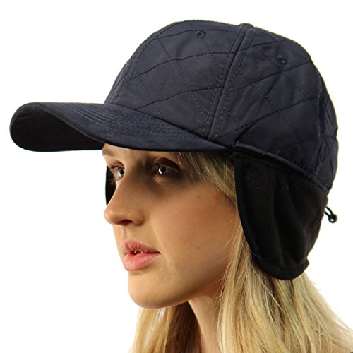 SK Hat shop Everyday Ear Cover Ear Flaps Warmer Visor Baseball Adjustable Ball Cap Hat Navy