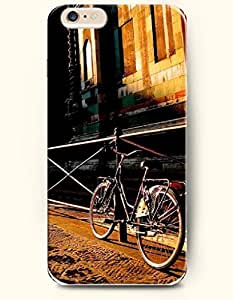 SevenArc New Apple iPhone 6 ( 4.7 Inches) Hard Case Cover - Bicycle Leaning against the Railing