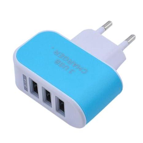 Colorful Cargador USB 3 Puerto, Wall charger adaptador de ...