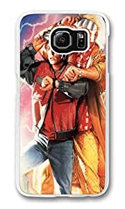 Back To The Future Marty And Dr Emmett Custom Samsung S6 Case Cover Polycarbonate Transparent
