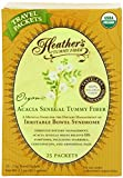 Heather's Tummy Fiber Organic Acacia Senegal Packets for IBS, 25 Count Travel Packs