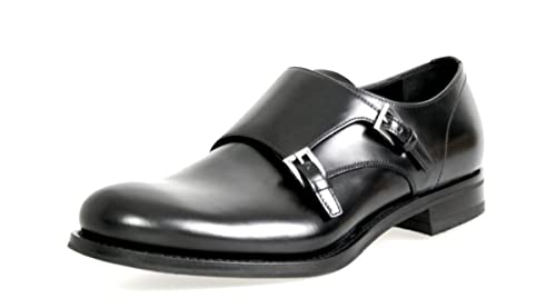 6f2b25048a Amazon.com | Prada Men's Classic Leather Formal Shoes Slip on ...
