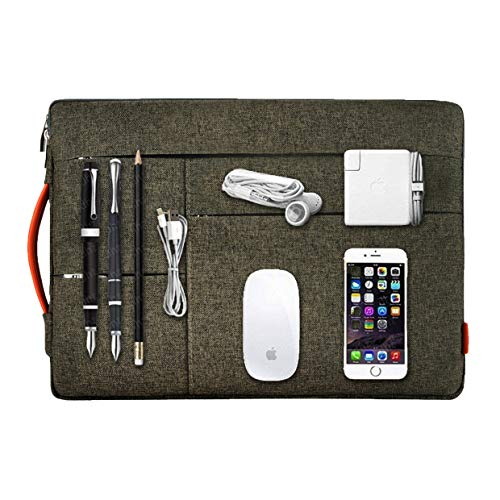 IUNION Waterproof and Multi-Pocket Laptop Sleeve Handbag Compatible 12-13.3 Inch New MacBook Pro Touch Bar MacBook Air | MacBook Pro Retina 2012-2018 | 12.9 Inch iPad Pro | New Surface Pro 5 3 4