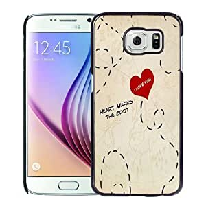 Beautiful Custom Designed Cover Case For Samsung Galaxy S6 With Heart Marks The Spot Phone Case