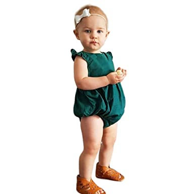 Amazon.com  Baby Boy Girl Short Romper Toddler Infant New Bodysuit Solid  Casual Jumpsuit Outfits G-Real  Clothing f6a5c62d3