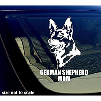German shepherd mom decal sticker car window bumper i love my dog 5 5 inches