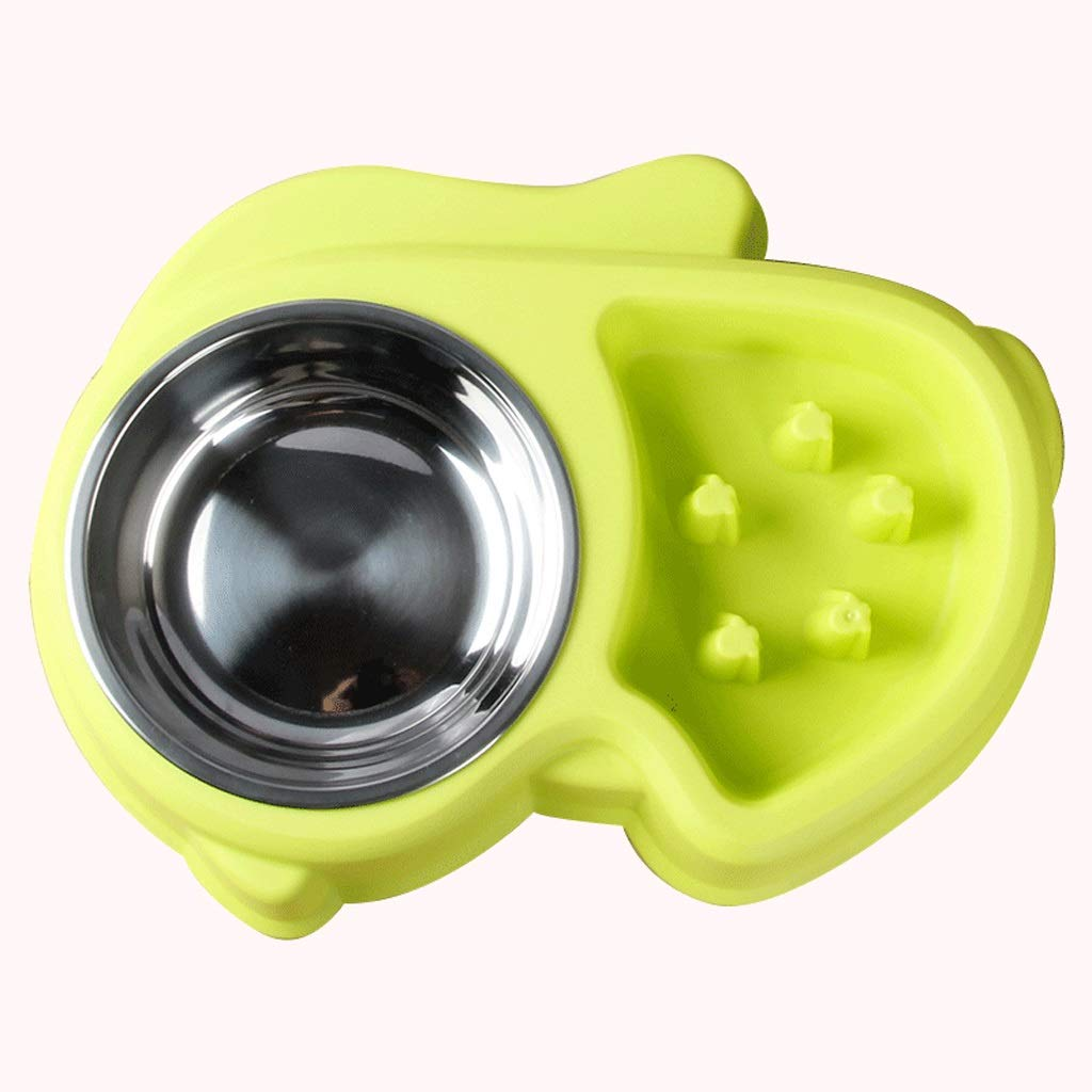 MXD Dog Bowl Cat Bowl Dog Pot Cat Pot Pet Stainless Steel Double Bowl Slow Food Bowl Size Dog Rice Bowl