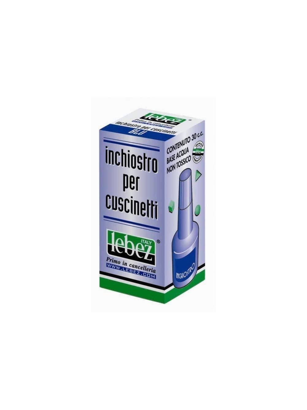 Lebez 1483-BL Inchiostro per cuscinett, 30 cc, Blu