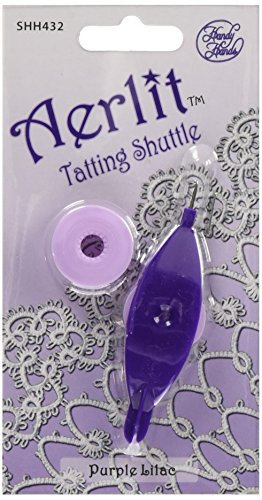 Aerlit Tatting Shuttle W//2 Bobbins Purple Lilac 769826004325