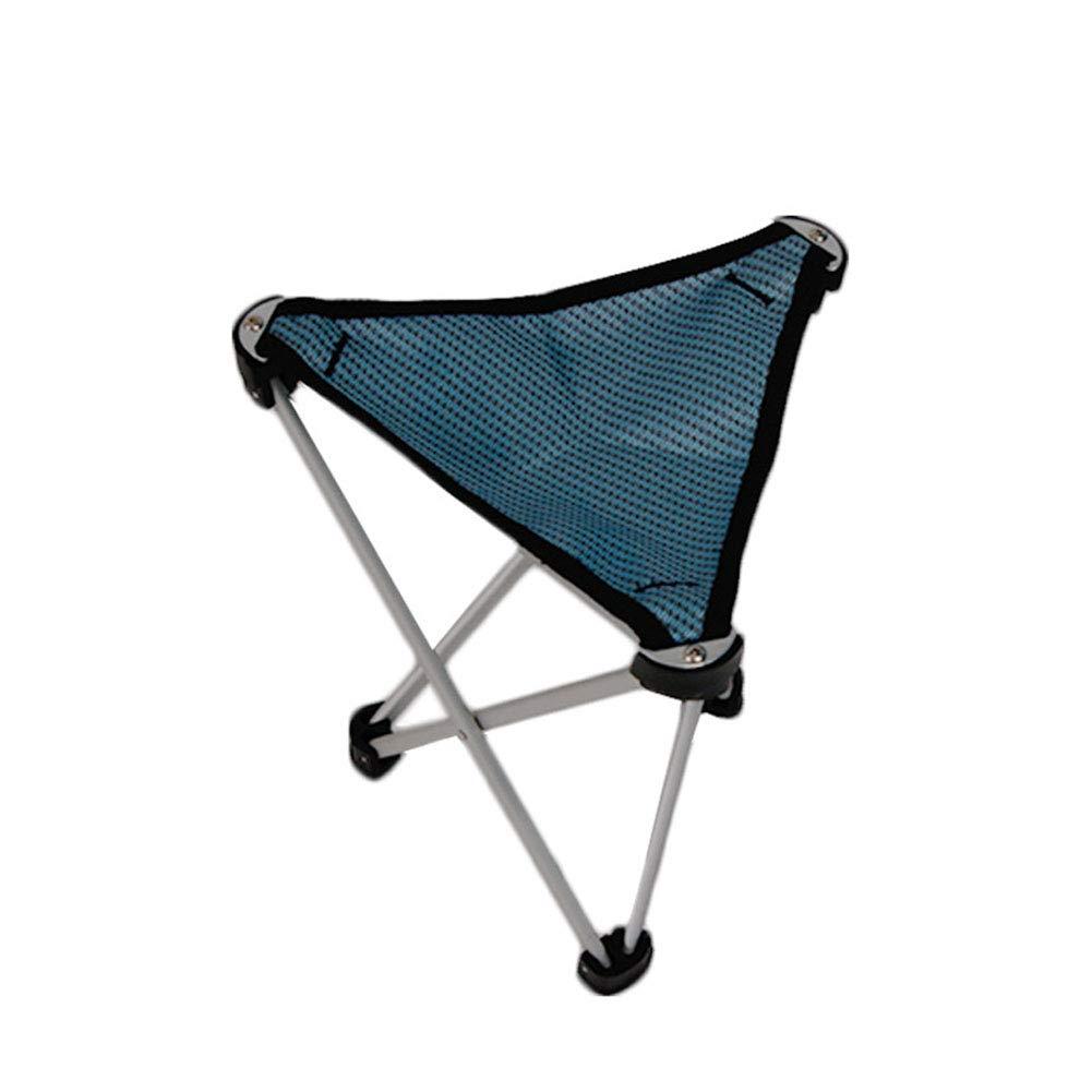 blueee 272723 cm Folding Stool, ThreeLegged Stool Multifunctional Folding Step Stool Outdoor Folding Chair Camping Stool Small Mazar (color   blueee, Size   27  27  23 cm)