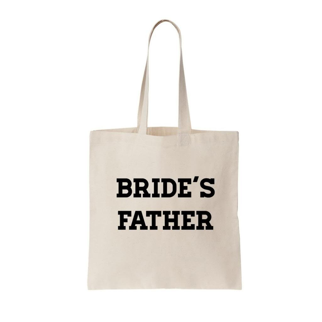Two In Love! Bride's Father Canvas Tote Bag (Natural)